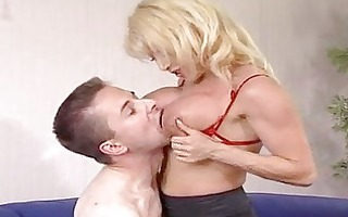 sexy mature golden-haired cougar donna denrico