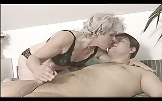 grey haired granny three-some