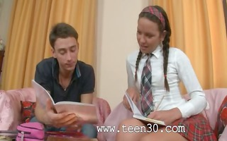 hawt lesson of awesome russian legal age teenager
