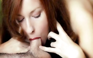 sexy busty redhead camille crimson gives great