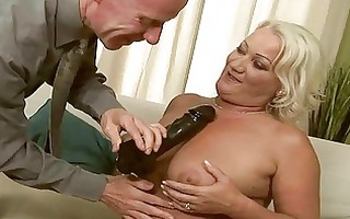 naughty granny getting anal drilled