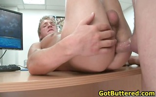 golden-haired hunk sucking three-some valuable