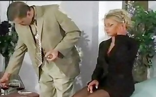 office anal golden-haired