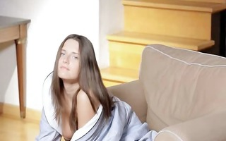 brunet love solo masturbation