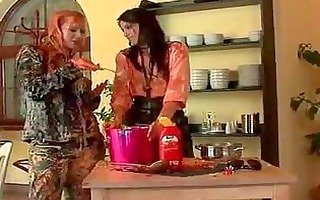 hawt euro chicks covered in sticky ribald food