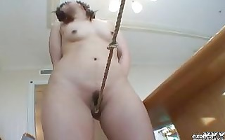 japanese subgirl ageha01 masturbates with rope