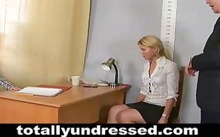 humiliating, totally stripped job interview for a