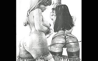 vintage erotic sadomasochism artworks