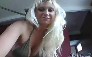 golden-haired playgirl devon lee has big pointer
