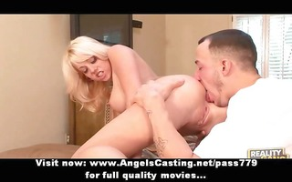 hawt blonde does irrumation and rides knob and