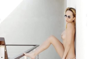 leila pornstars blue dreams on balcony