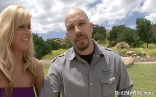 hot wife bonks a stranger whilst her husband