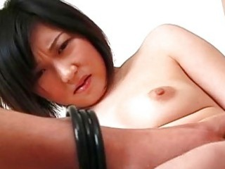 Hot Asian babe loving her cock!