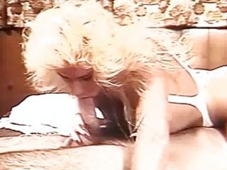 Amazing Vintage Blonde Slut Hot Drills Till Huge C