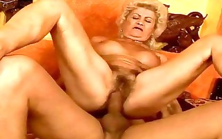 nasty busty granny receives her pussy drilled hard