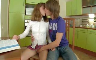 babysitters sex on the kitchen table