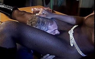white on black interracial scene with bad black