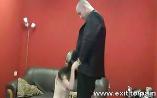 painful training my sub in worshipping my cock