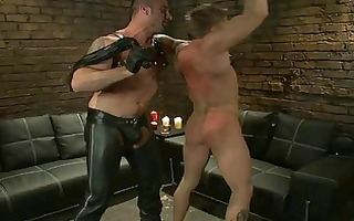 a slave lad being whipped as a punishment
