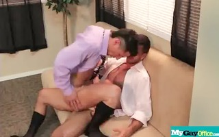 the gay office - homo anal sex & rod massage