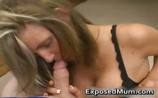 hawt mum with massive juggs sucks stiff jock part5