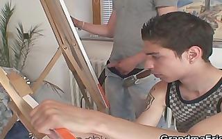 youthful painters bang granny
