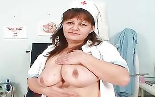 large titties mature lady wears nurse uniform and