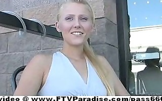 ftv cute blonde posing and public flashing