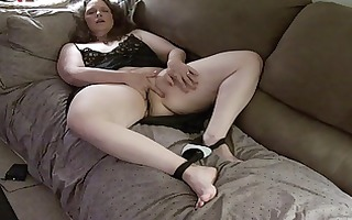 wife with electro stimulator