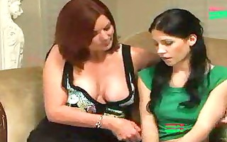 sexy lesbian mother i moms snag three-some