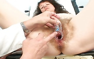 old older bitch acquires her hirsute examined at