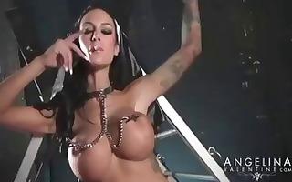 breasty brunette pornstar angelina valentine