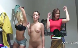 group of horny girls loving on college