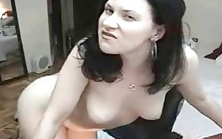 brunette hair sweetheart smoking and masturbating