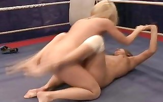 sexy young lesbian babes fighting