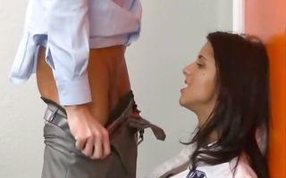 obscenely sexy student fucks with teacher