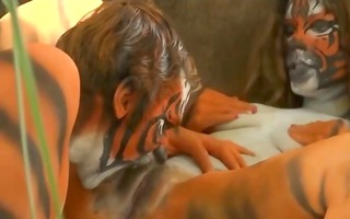 bizarre tigers having sex