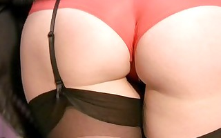 concupiscent milf in stockings and panties plays