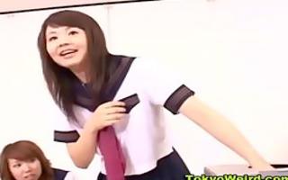 japanese schoolgirl classroom cook jerking
