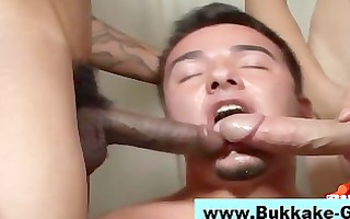 hungry amateur homosexual guys suck on penis