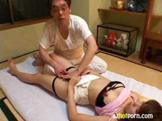 Little Asian girl is getting fingered and fondled