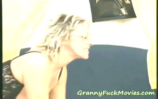 lustful granny simone admiring a younger penis