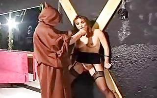 bondage aged serf in punishment