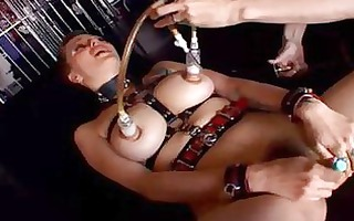 two lesbians fuck with leather belts and whips