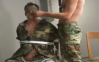 military homosexual chap got cock tortured