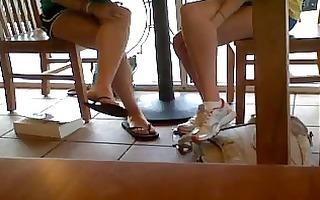 cheerleaders candid dangling cute feet