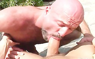muscled bear fucks golden-haired bottom