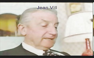 older guy in suit... jean villroy receives a blow
