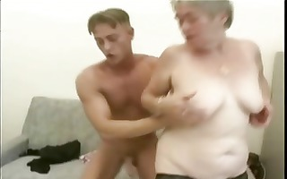 shaggy grey haired granny screwed