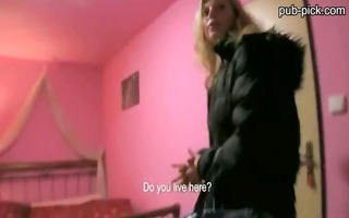 bewitching euro chick picked up in public and